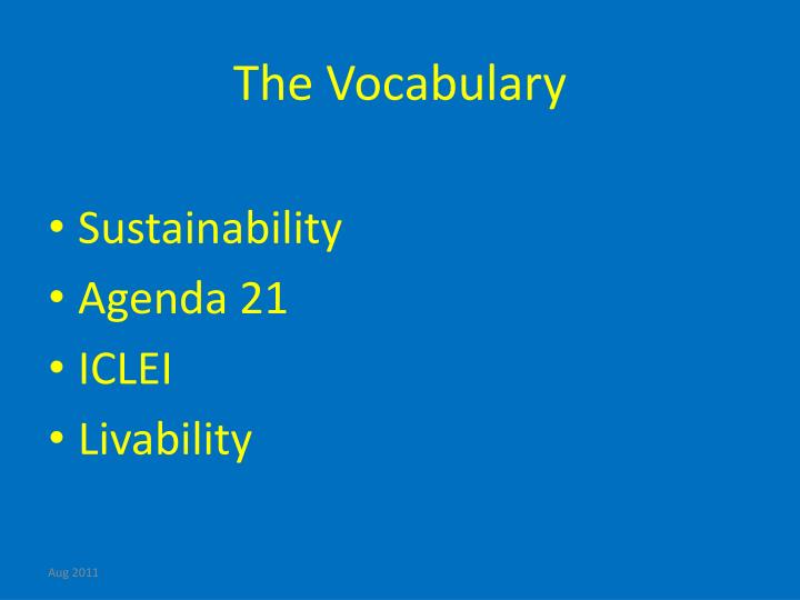 The Vocabulary