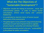 what are the objectives of sustainable development