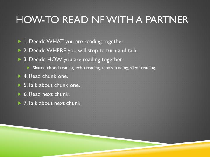 How-To Read NF With a Partner