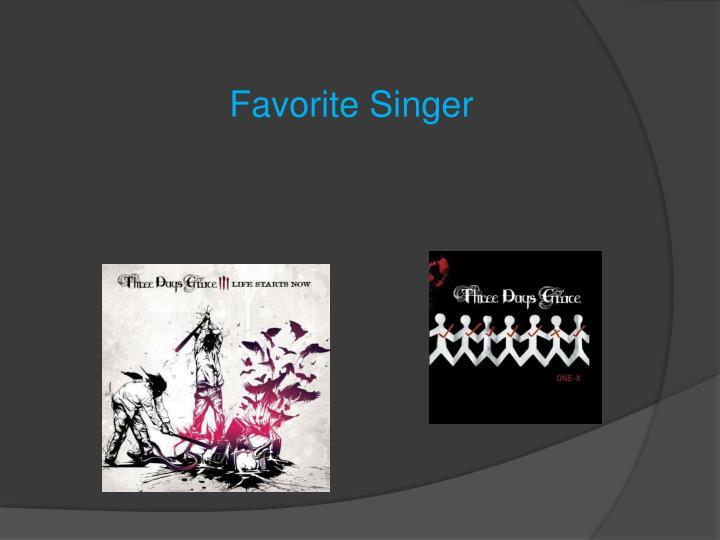 Favorite Singer