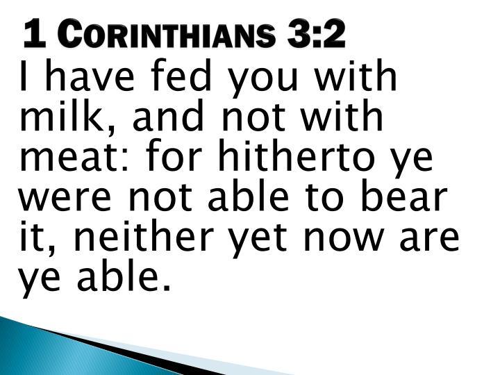 1 Corinthians 3:2