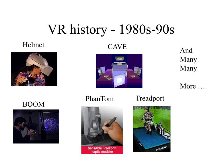 VR history - 1980s-90s