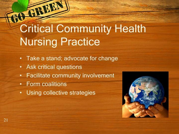 Critical Community Health