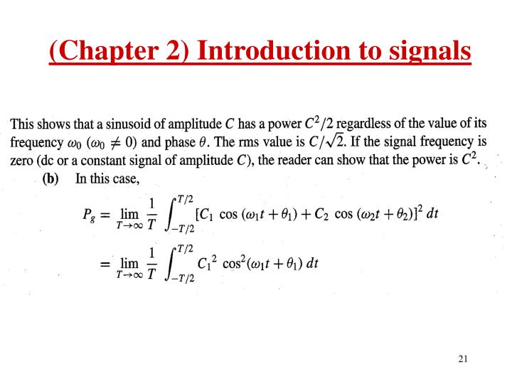 (Chapter 2) Introduction to signals