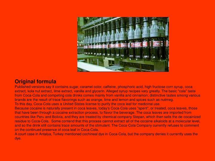 Original formula