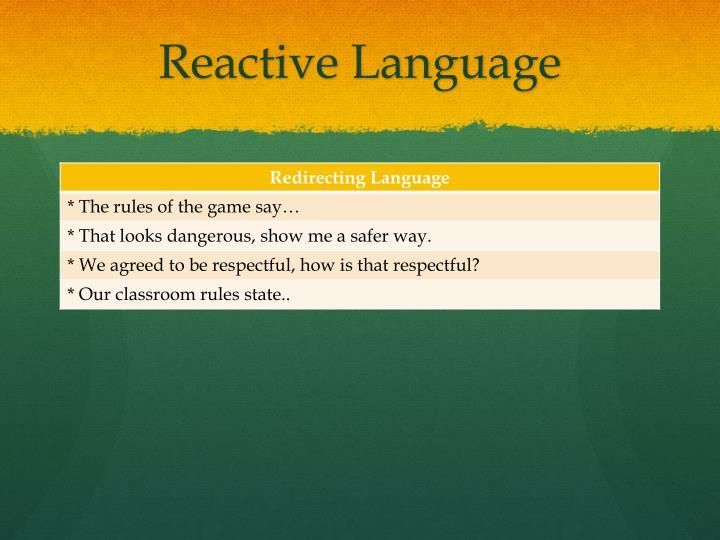 Reactive Language