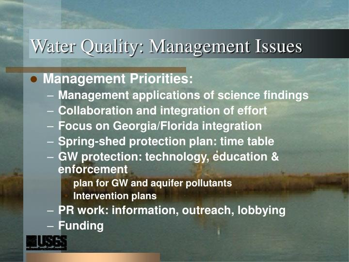 Water Quality: Management Issues