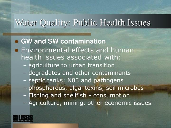 Water Quality: Public Health Issues