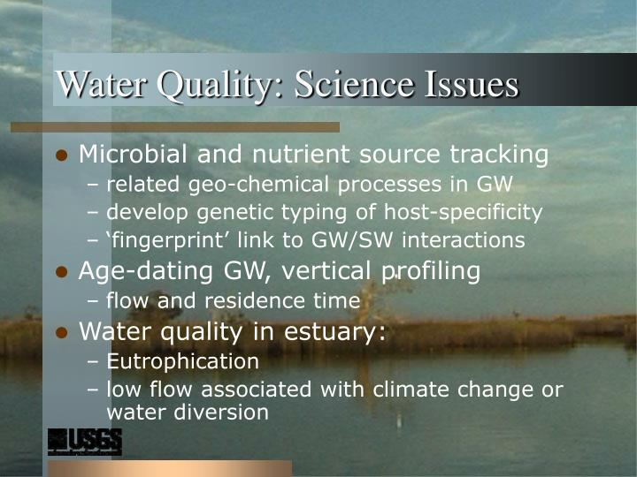 Water Quality: Science Issues