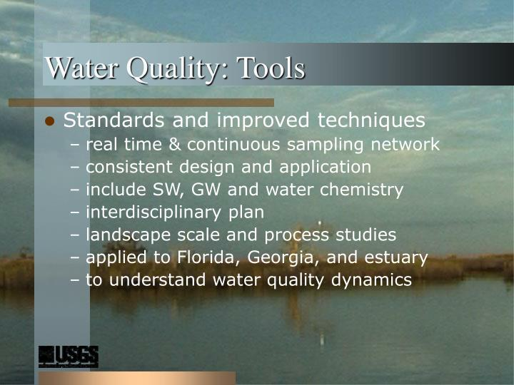 Water quality tools