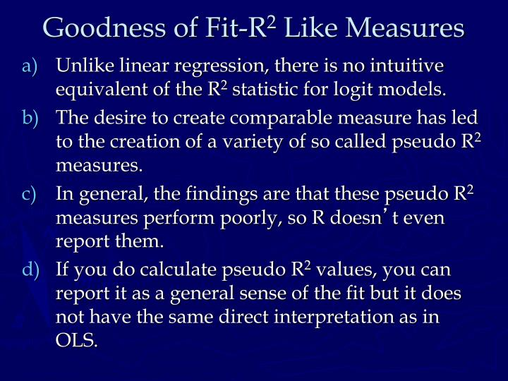 Goodness of Fit-R