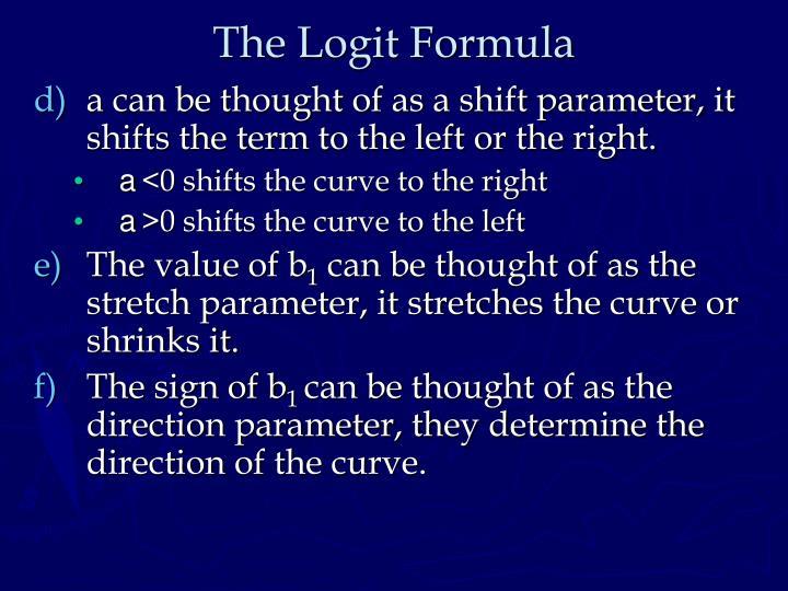 The Logit Formula