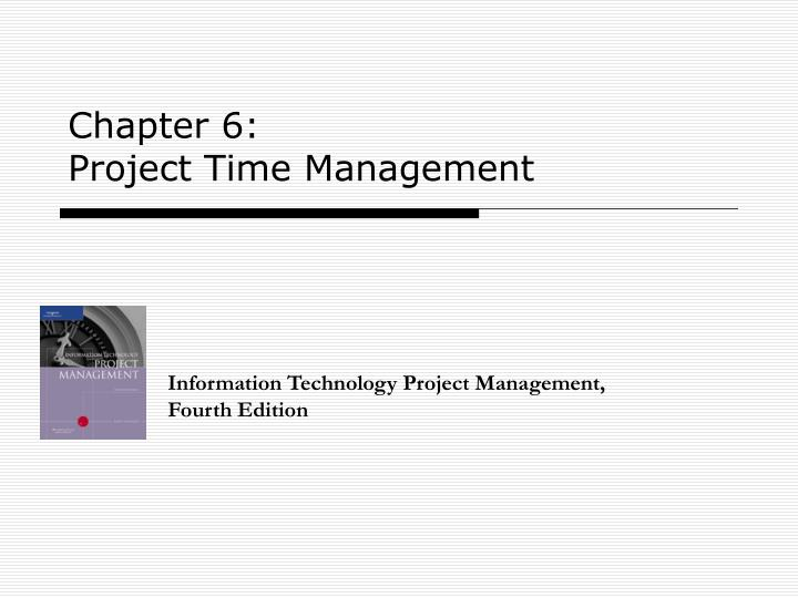 Chapter 6 project time management