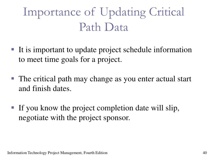 Importance of Updating Critical