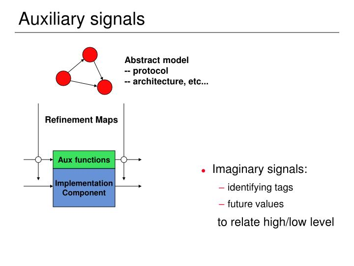 Auxiliary signals