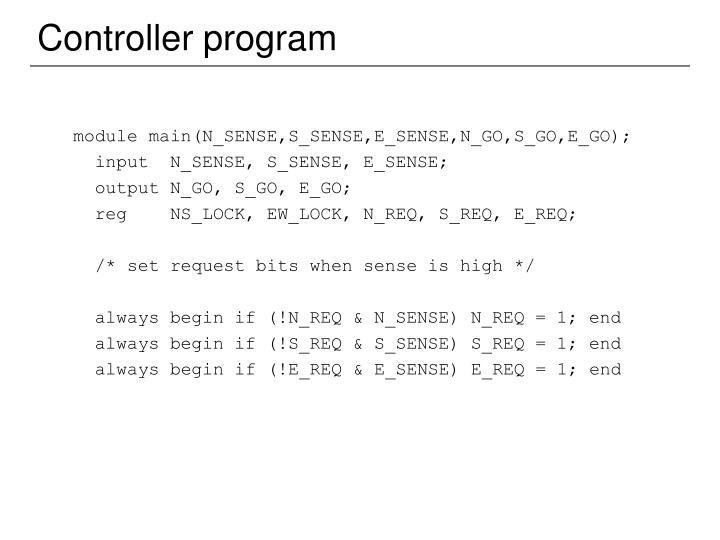 module main(N_SENSE,S_SENSE,E_SENSE,N_GO,S_GO,E_GO);