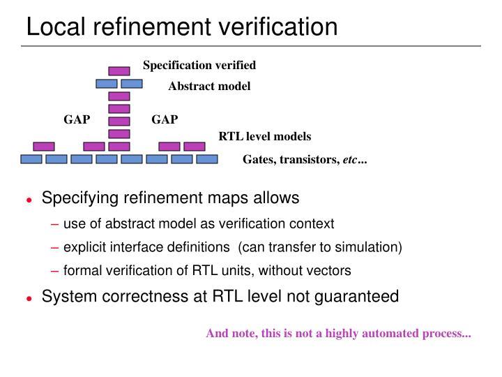 Local refinement verification