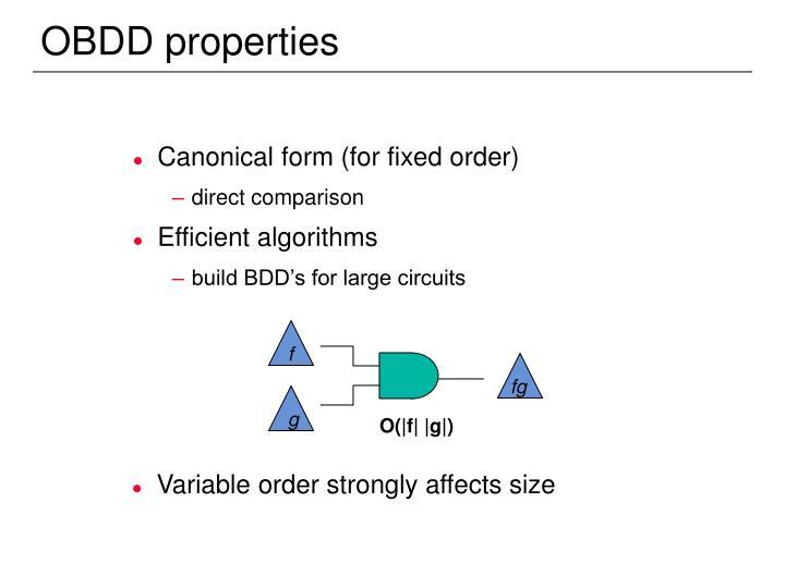 OBDD properties