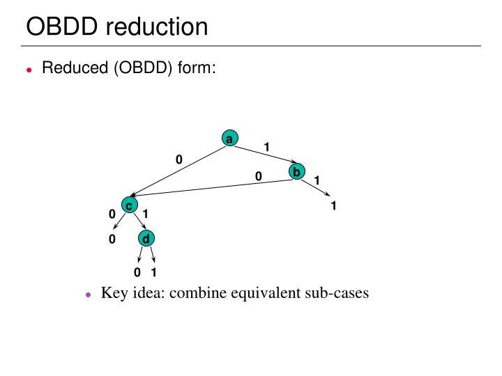 OBDD reduction