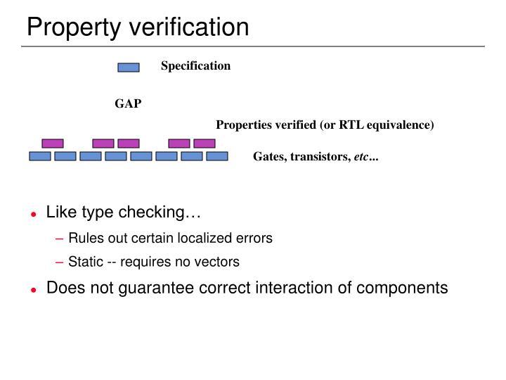 Property verification
