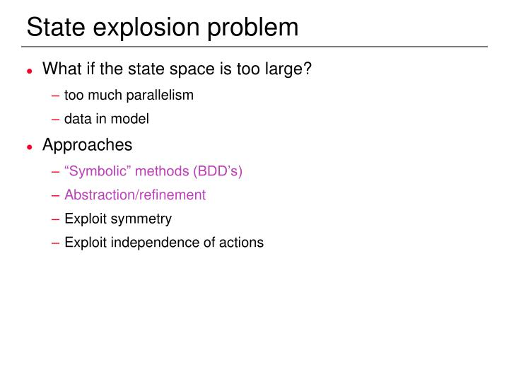 State explosion problem