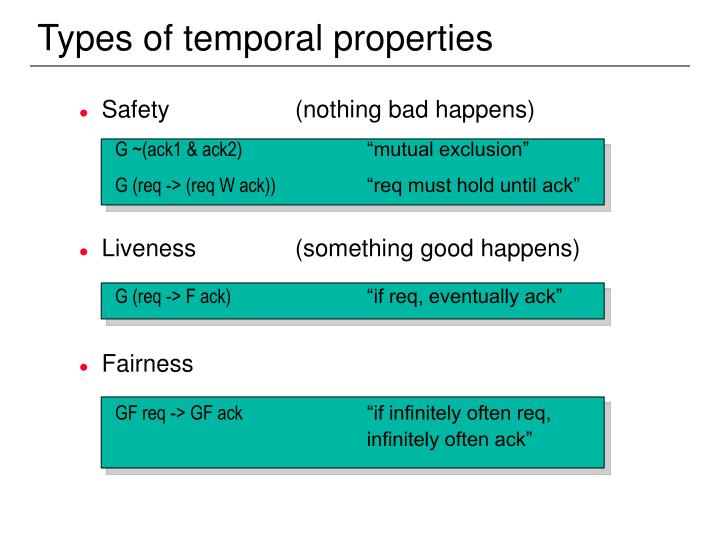 Types of temporal properties