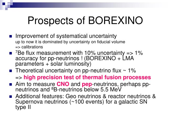 Prospects of BOREXINO