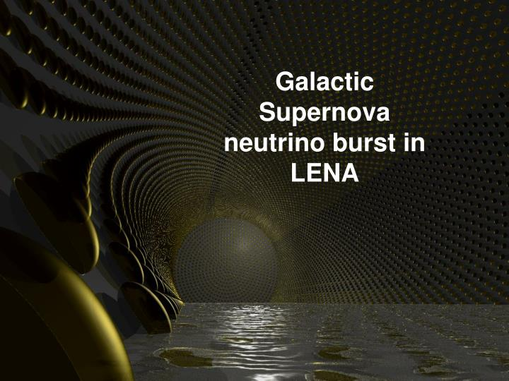 Galactic Supernova neutrino burst in LENA