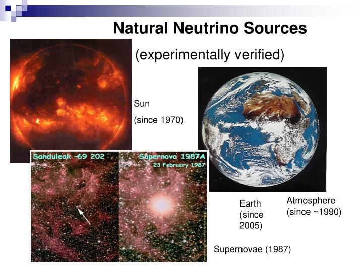 Natural Neutrino Sources