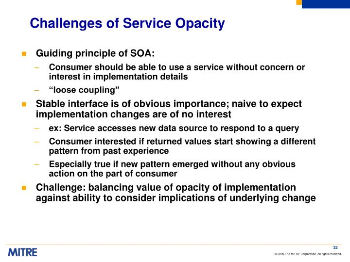 Challenges of Service Opacity