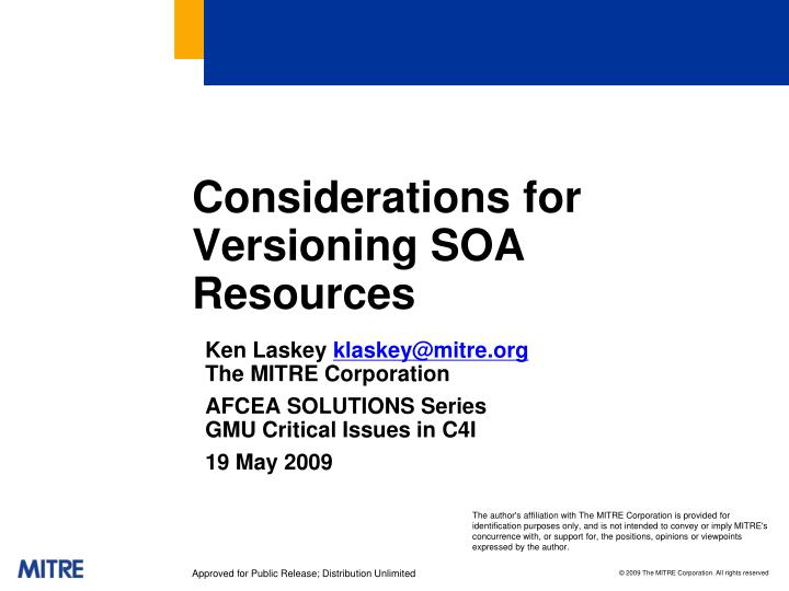 Considerations for versioning soa resources