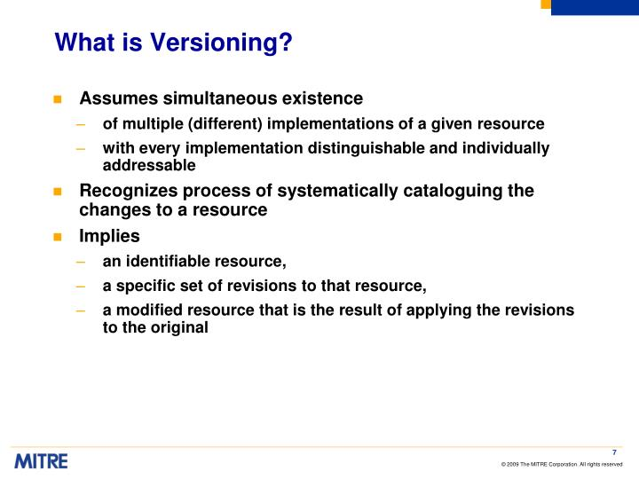 What is Versioning?