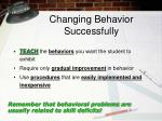 changing behavior successfully1