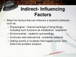 indirect influencing factors