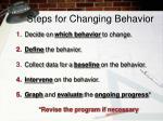 steps for changing behavior