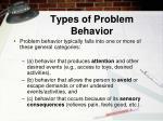types of problem behavior