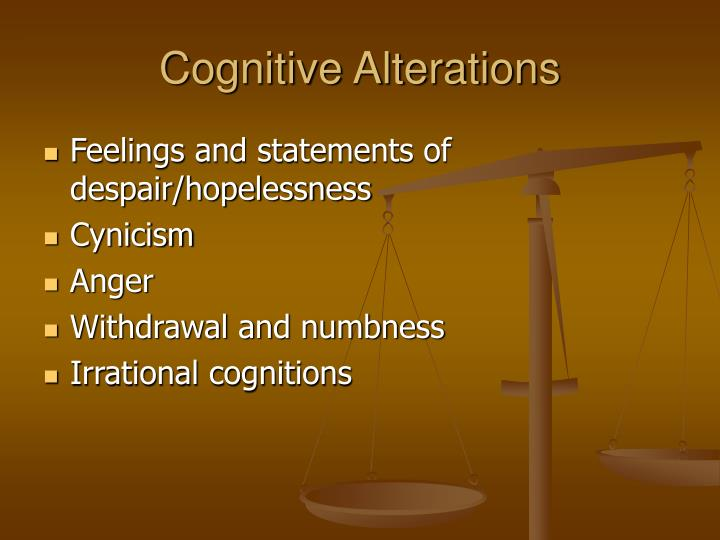 Cognitive Alterations