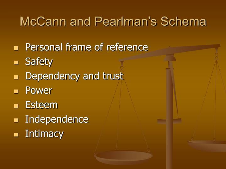 McCann and Pearlman's Schema