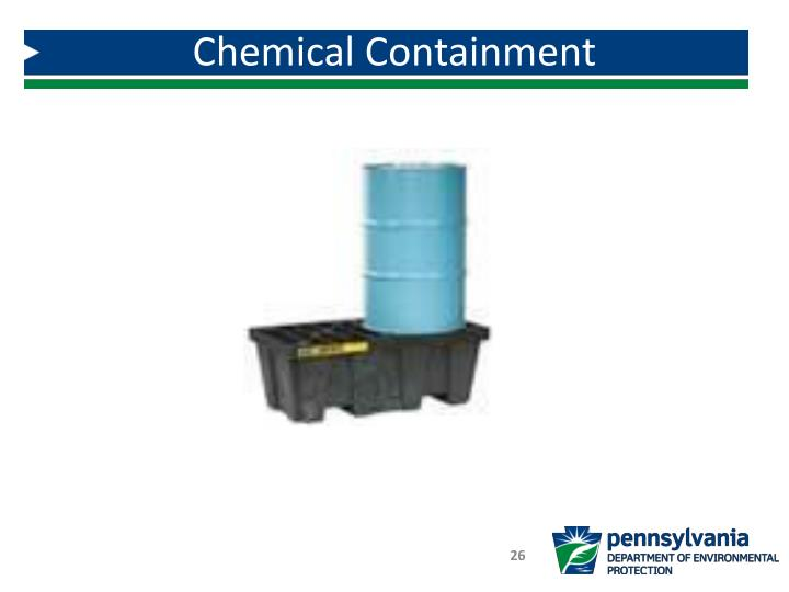 Chemical Containment