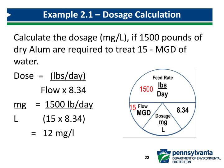 Example 2.1 – Dosage Calculation