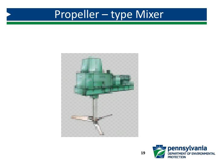 Propeller – type Mixer