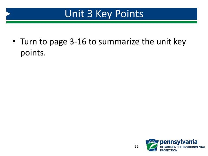 Unit 3 Key Points
