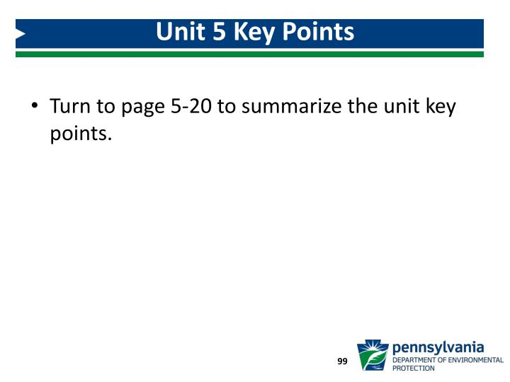 Unit 5 Key Points