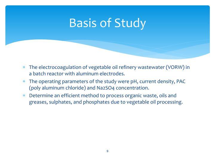Basis of Study