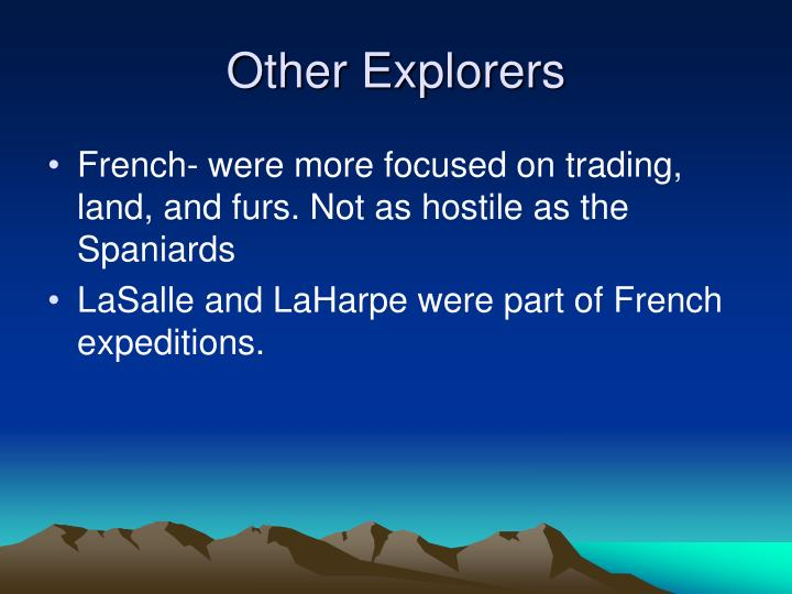Other Explorers