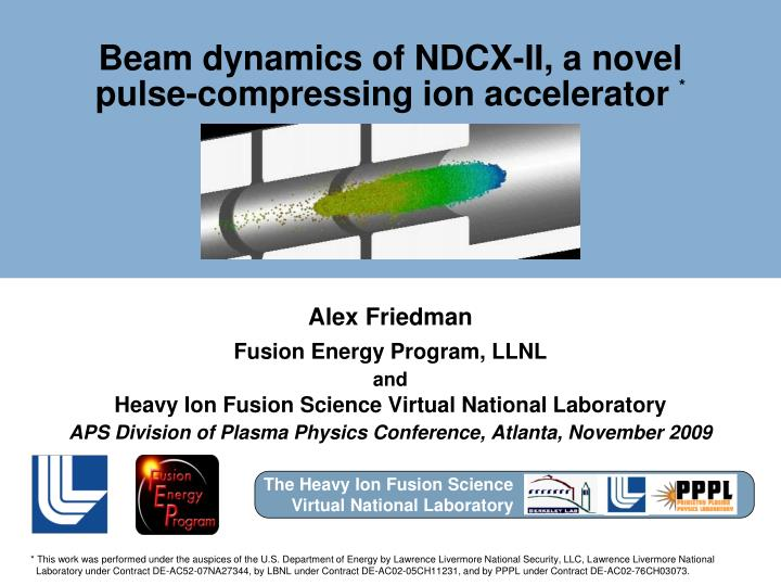 Beam dynamics of ndcx ii a novel pulse compressing ion accelerator