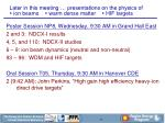 later in this meeting presentations on the physics of ion beams warm dense matter hif targets