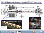 ndcx ii beam neutralization is based on ndcx i experience
