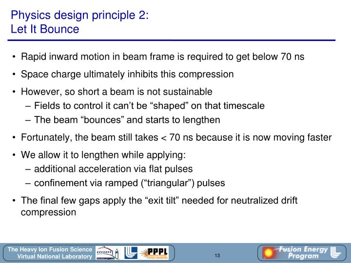 Physics design principle 2: