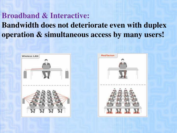 Broadband & Interactive: